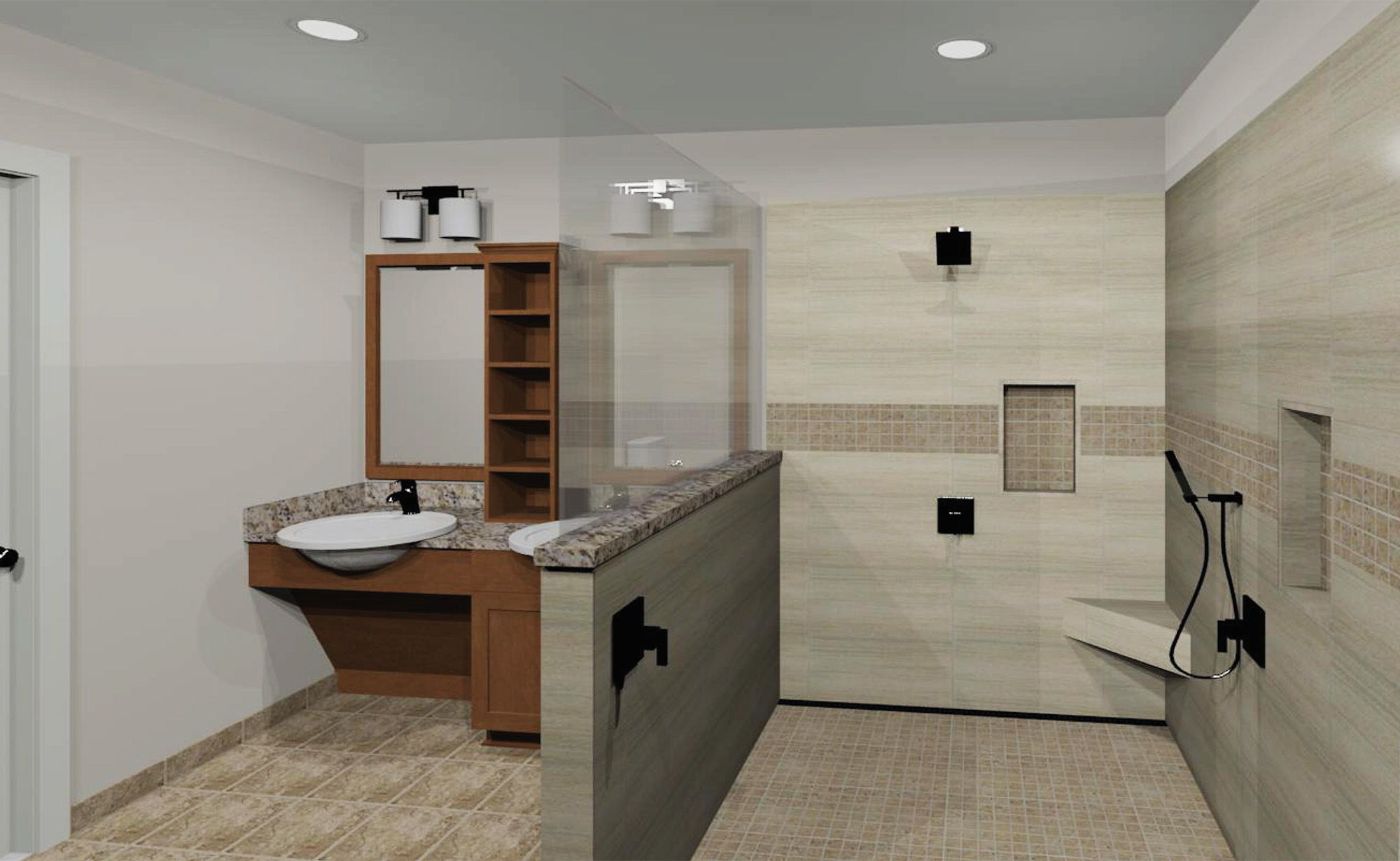 3D Rendering - Accessible Bathroom