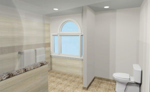 3D Rendering - Accessible Bathroom