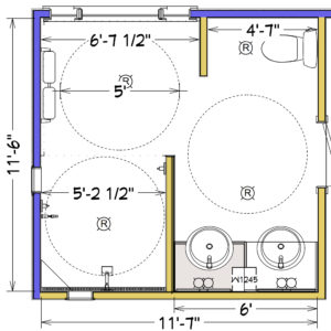 Drawing - Accessible Bathroom