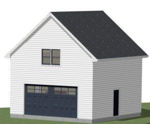 Garage Addition 3D Drawing