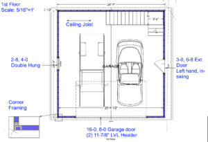 Garage addition 1st Floor Drawing