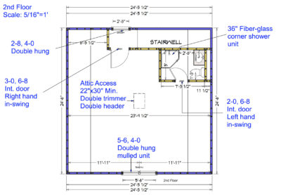 Garage addition 2nd Floor Drawing
