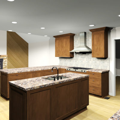 Accessible Kitchen - 3D Rendering