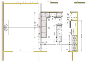 Accessible Kitchen - Drawing