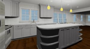 3D Rendering of Kitchen