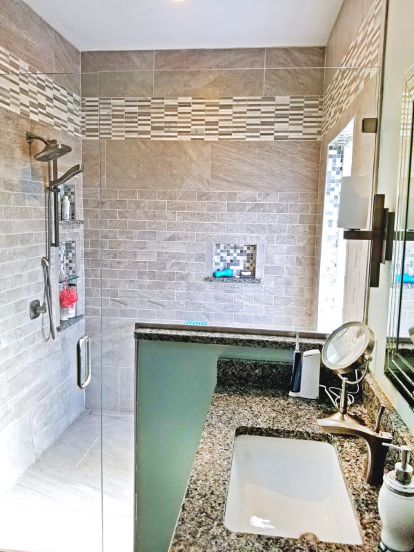 Large Master walk-in shower