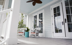 Front porch siding