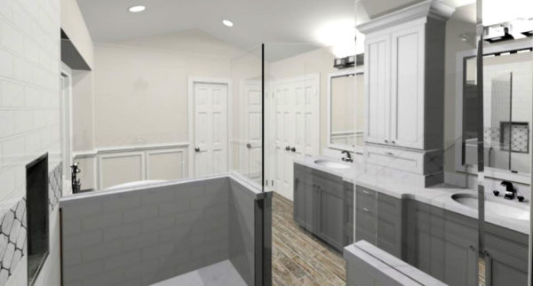 3D Rendering of Master Bathroom