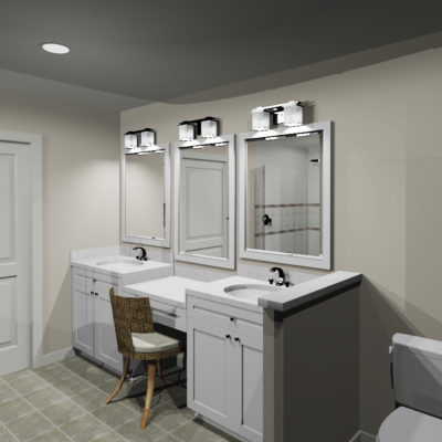 3D master bath rendering - view 1