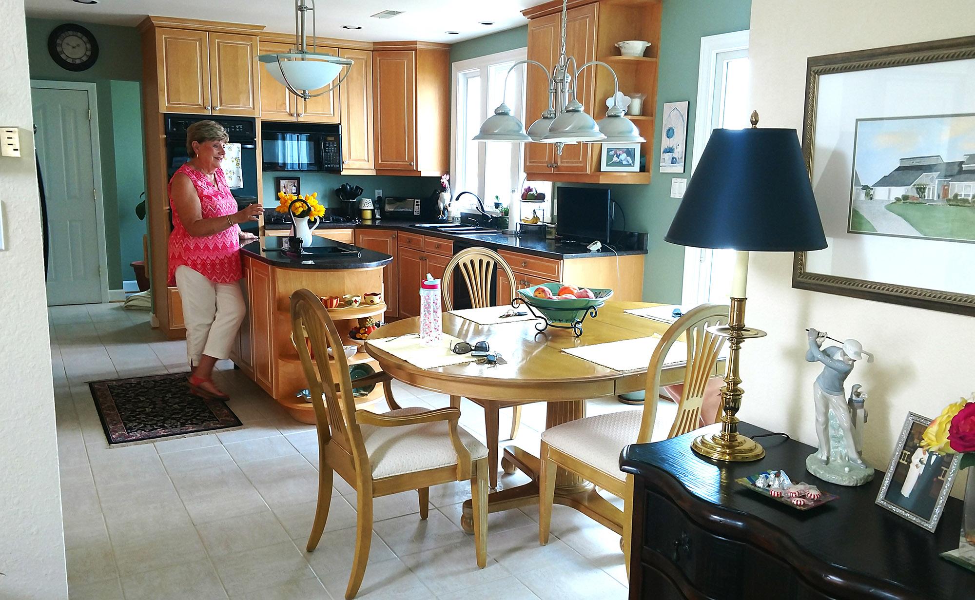 kitchen - before photo