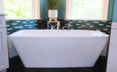large soaking tub