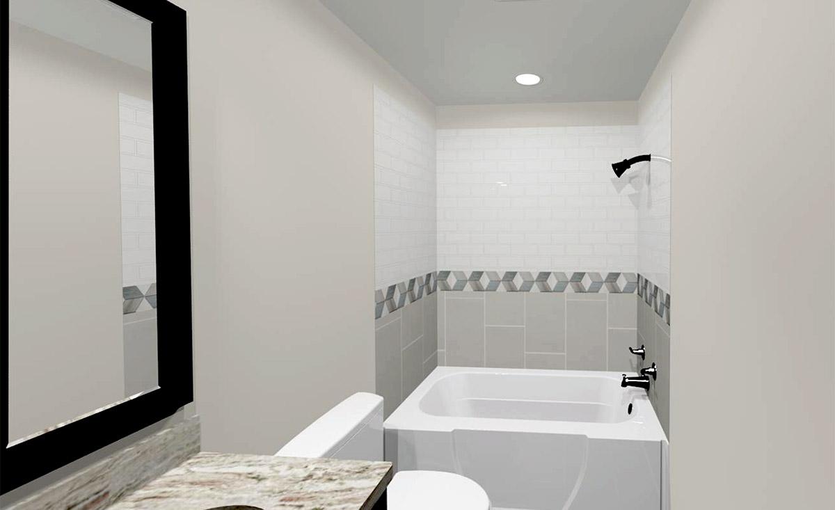 Guest Bath 3D Rendering