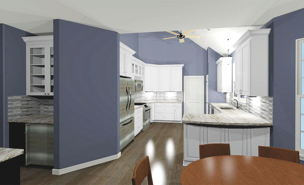 Kitchen 3D Rendering View 1