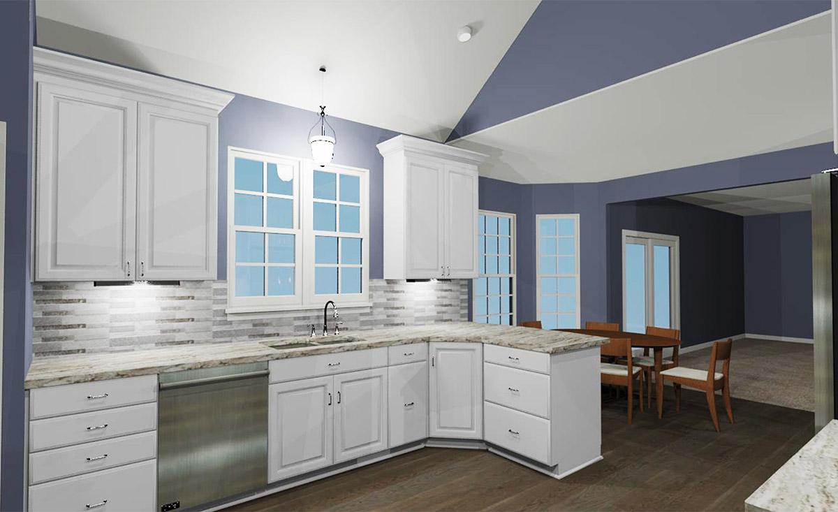 Kitchen 3D Rendering View 2