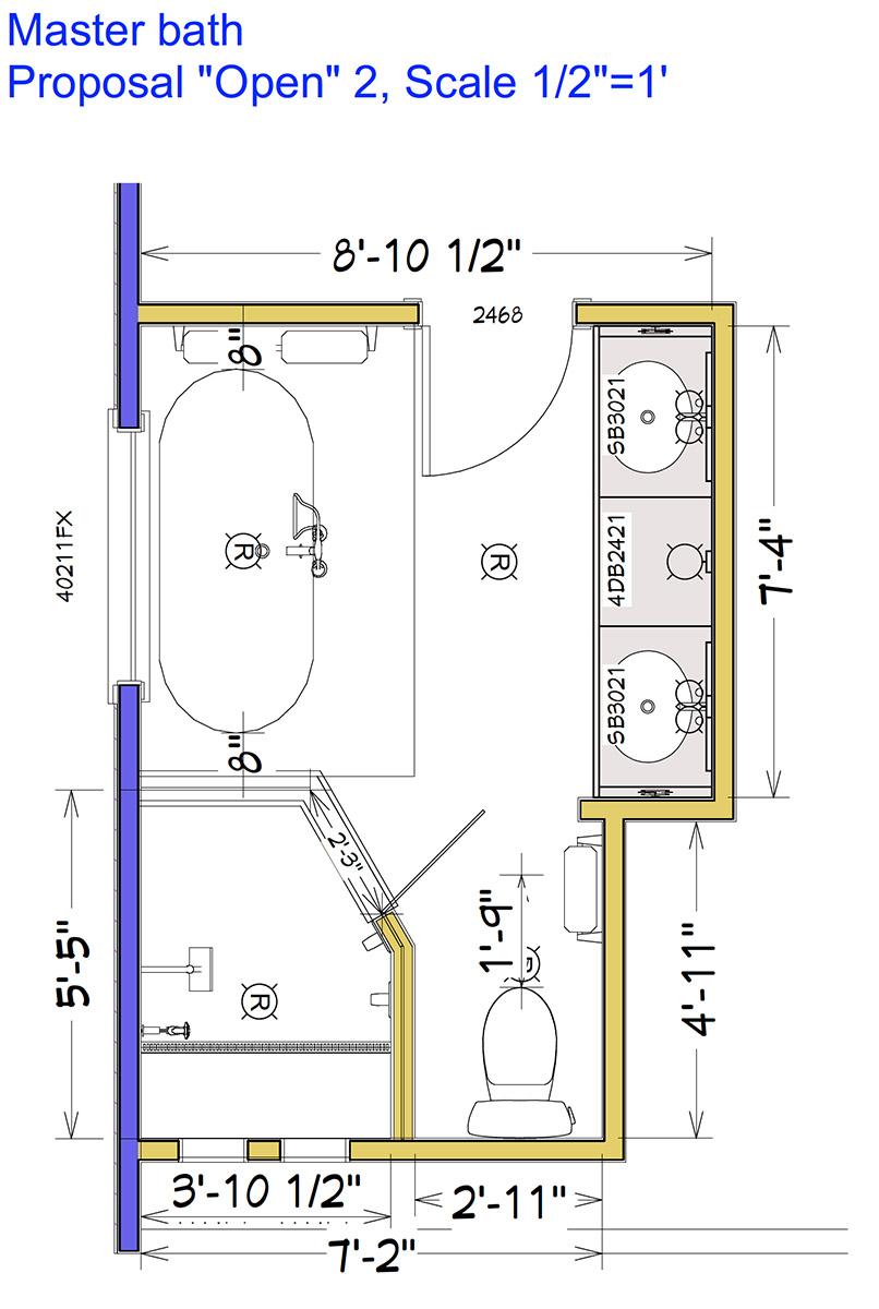 Master Bathroom Plan