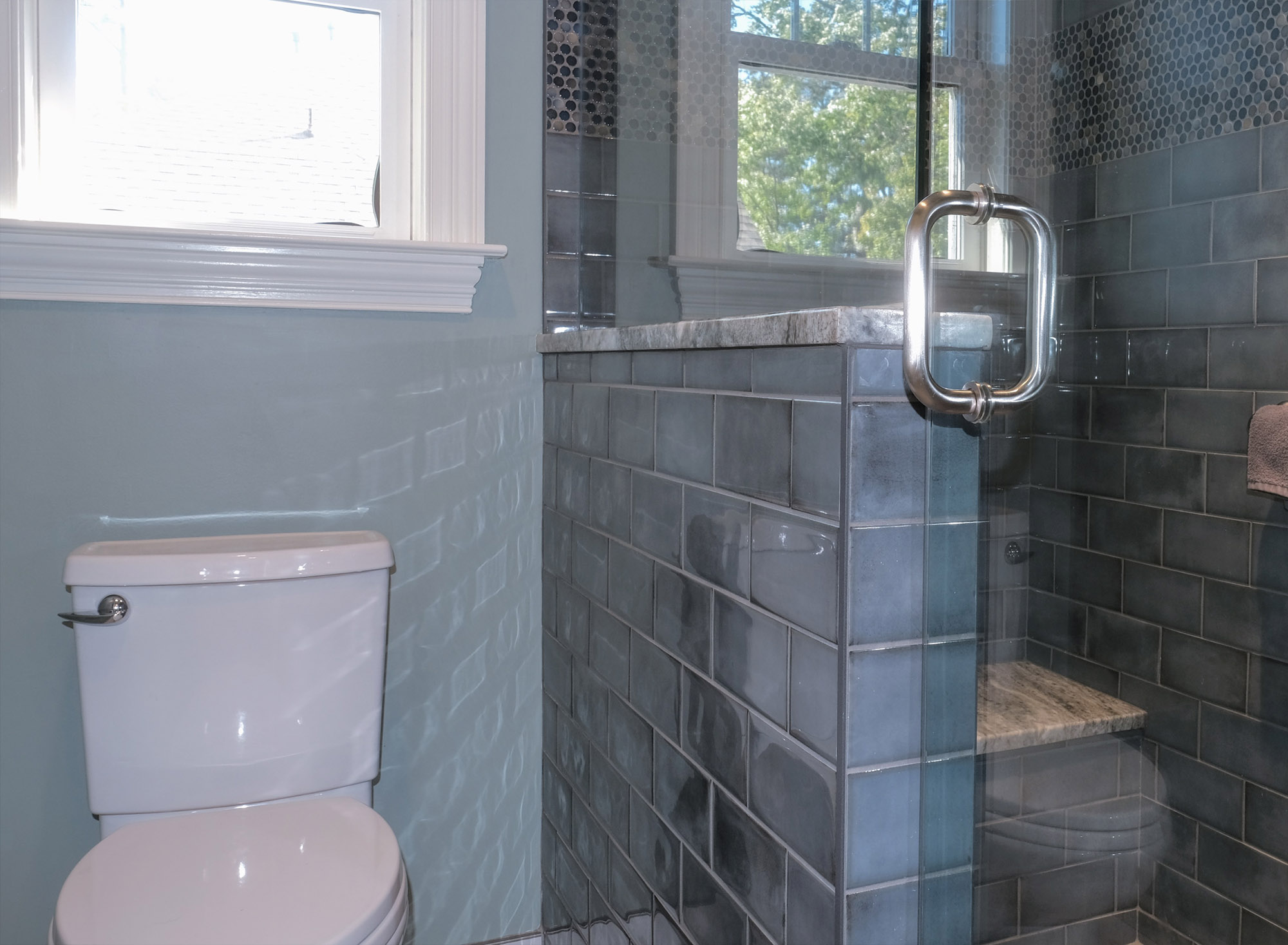 Hall Bath shower after photo