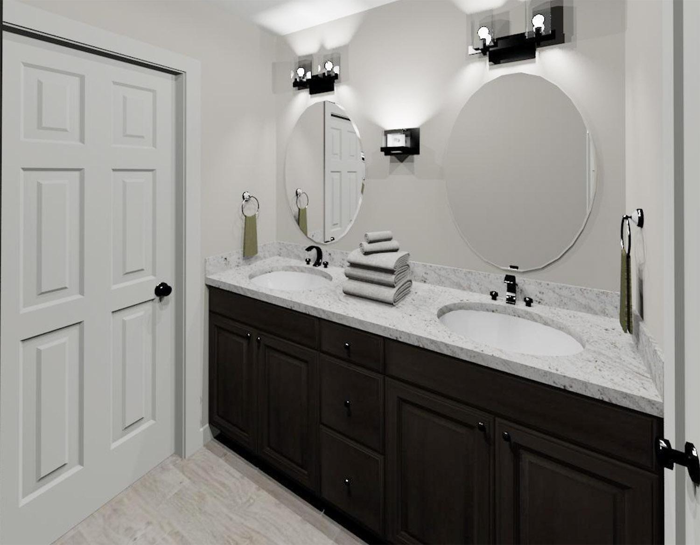 Hall Bath 3D Rendering - Vanity