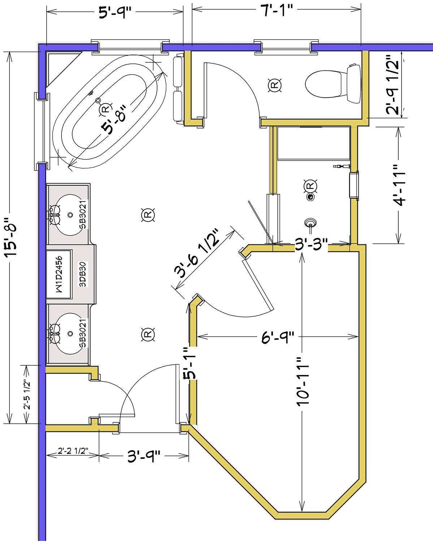 Master Bathroom plans
